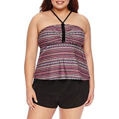 Costa Del Sol Stripe Bandeau or Tactel Swim Short