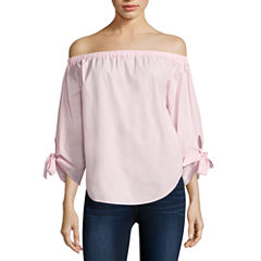 i jeans by Buffalo Off Shoulder Tie Sleeve Top
