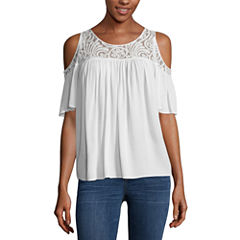 a.n.a Lace Cold Shoulder Blouse