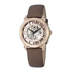 Stührling® Original Womens Rose Gold-Tone Skeleton Automatic Watch