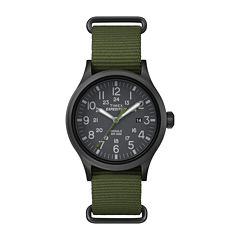 Timex® Expedition Scout Mens Green Fabric Strap Watch