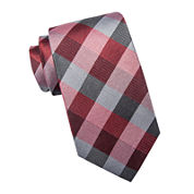 Collection by Michael Strahan Exploded Gingham Silk Tie