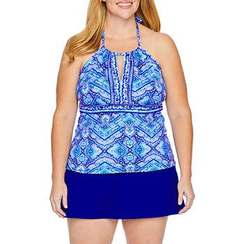 Liz Claiborne Pattern Tankini Swimsuit Top Or Swimsuit Bottom plus
