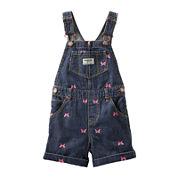 OshKosh B'gosh® Butterfly-Print Denim Shortalls - Baby Girls 3m-24m