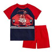 Okie Dokie® Short-Sleeve Colorblock Tee or Knit Shorts - Baby Boys newborn-24m