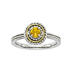 Personally Stackable Two-Tone Citrine Ring
