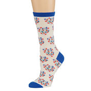 1pk Valentine Crew Socks