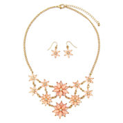 Mixit Womens  Pink Flower Mini Statement Jewelry Set