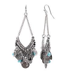 Mixit Turquoise Open Chandelier Earrings