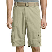 Plugg® Cumberland Relaxed-Fit Lightweight Belted Twill Cargo Shorts