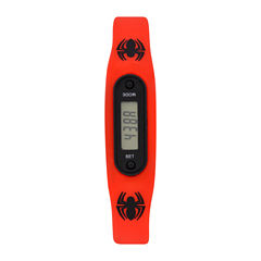 Spiderman Boys Pedometer Tracker Multicolor Strap Watch-Spd4428jc