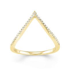 1/10 CT. T.W. Diamond 10K Yellow Gold Midi Ring