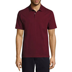 St. John's Bay Short Sleeve Solid Jersey Polo Shirt Slim