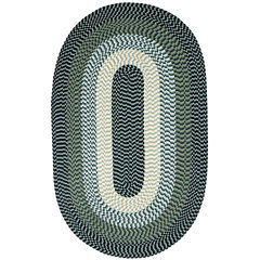 Better Trends Alpine Braided Oval Reversible Rug