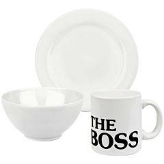 Boss 3-pc. Dinnerware Set
