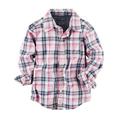 Carter's Long Sleeve Flannel Shirt-Baby Boys