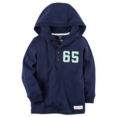 Carter's Toddler Boys Longsleeve Knit Hooded Henley