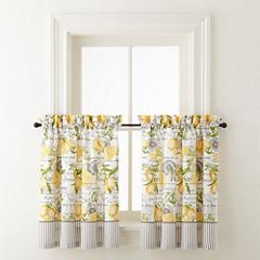 Home Expressions Lemon Zest Rod-Pocket Window Tiers