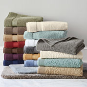 Royal Velvet® Sculpted & Luxury Egyptian Cotton Loops Bath Towel & Rug Collection