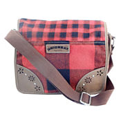 Union Bay Buffalo Check Plaid Messenger Bag