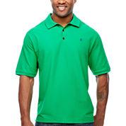 IZOD Short Sleeve Solid Advantage Pique Polo Shirt- Big & Tall