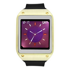 Geneva Mens Black Strap Watch-33731