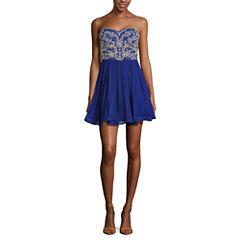 My Michelle Sleeveless Beaded Party Dress-Juniors