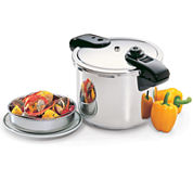 Presto® Professional 8-qt. Stainless Steel Pressure Cooker + Tri-Clad Base