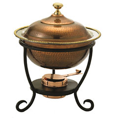 Old Dutch Round Antique Copper over Stainless Steel Chafing Dish 3 Qt