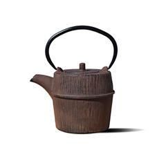 Old Dutch 26 Oz Woodland Brown Cast Iron Shinrin Teapot