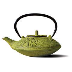 Old Dutch 37 Oz Moss Green Cast Iron Sakura Teapot