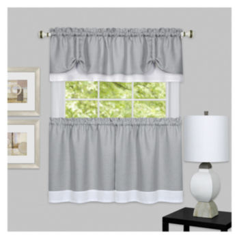 24 Inch Gray Kitchen Curtains for Window - JCPenney