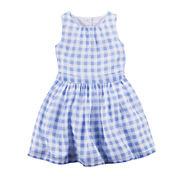 Carter's® Gingham Crepe Dress - Toddler Girls 2t-5t