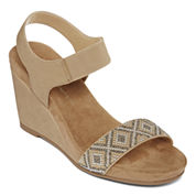 CL by Laundry Talia Beaded Wedge Sandals