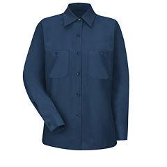 Red Kap® Womens Industrial Long-Sleeve Work Shirt