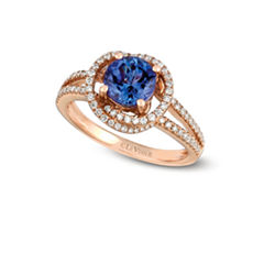 LIMITED QUANTITIES! Levian Corp Le Vian Womens 3/8 CT. T.W. Blue Tanzanite 14K Gold Cocktail Ring