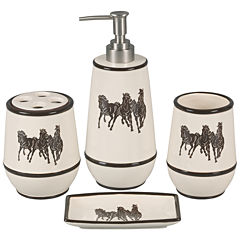 Hiend Accents Running Horse 4-pc. Bath Accessory Set