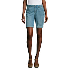 a.n.a Modern Fit Denim Bermuda Shorts