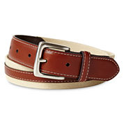IZOD® Tan Canvas Belt - Boys 8-20