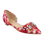 Liz Claiborne® Teagan Pointed-Toe Jeweled Flats