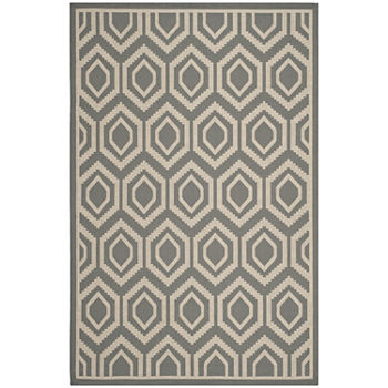 Safavieh Courtyard Collection Carmella Geometric Indooroutdoor Area Rug