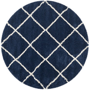 Safavieh Hudson Shag Collection Salome Geometric Round Area Rug