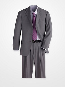 Magic Johnson Medium Gray Pinstripe Suit