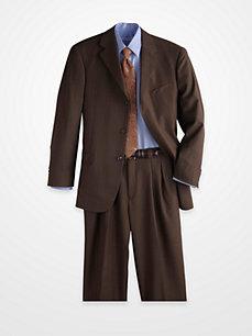 Magic Johnson Dark Brown Striped Suit