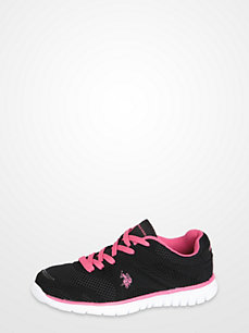 Polo Assn. Black & Hot Pink Sneakers