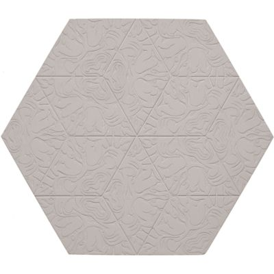 "12"" x 13-7/8"" maximus hexagon decorative field in crème"