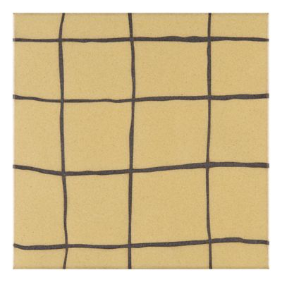 "Maven Dune 8"" x 8"" field tile in Silk with black dry line"