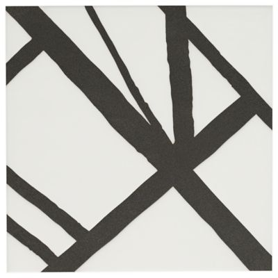 "Maven Solstice I 8"" x 8"" field tile in Matte White with black dry line"