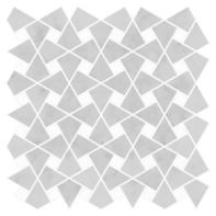 "Ann Sacks Mosaic Caysen 13.35"" x 13.25"" pattern repeat in Carrara & Standard Thassos"