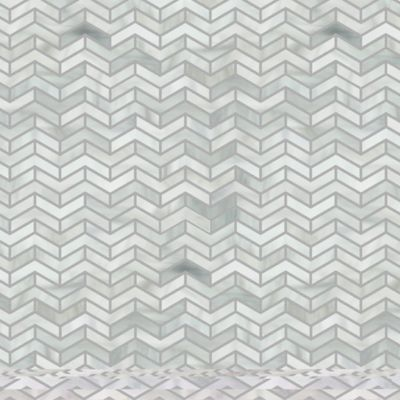 chevron herringbone mosaic in rain cloud
